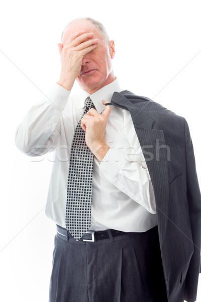 Zakenman lijden hoofdpijn stress manager pijn Stockfoto © bmonteny