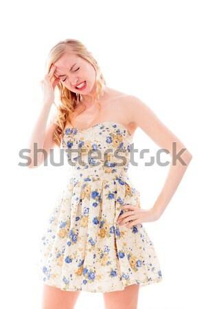 красивой платье улыбаясь Сток-фото © bmonteny