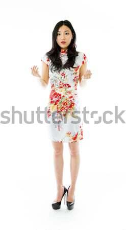 Seksi Asya noel baba üzgün star çekici Stok fotoğraf © bmonteny