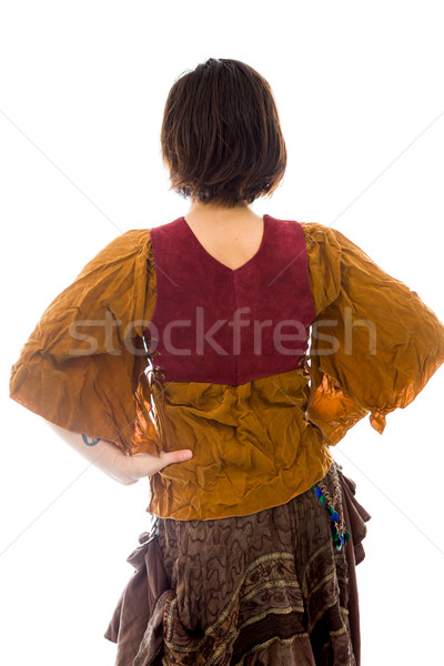 Rear view of a young woman standing with her arms akimbo Stock photo © bmonteny
