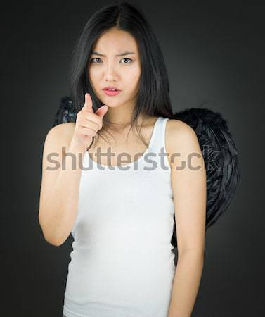 Genç Asya kadın güzel sarı fotoğrafçılık Stok fotoğraf © bmonteny