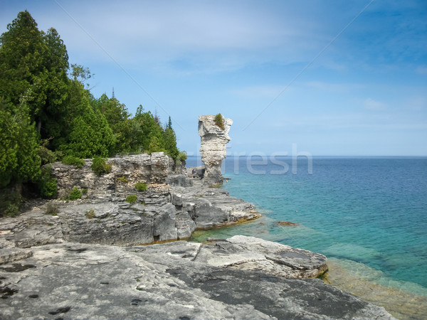 Rock formations at the coast, Flowerpot Island, Georgian Bay, To Stock photo © bmonteny
