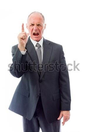 Chateado empresário corporativo gerente fotografia gritando Foto stock © bmonteny
