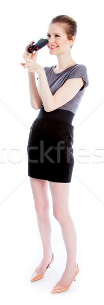 Сток-фото: привлекательный · кавказский · девушки · 30 · выстрел · студию