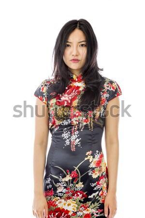 азиатских пальцы портрет связи мышления Сток-фото © bmonteny