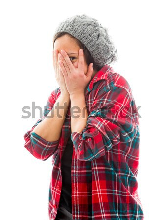 Young woman trying to listen Stock photo © bmonteny