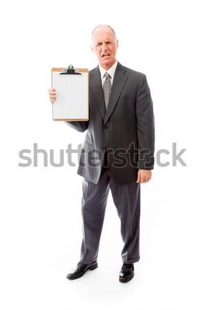 Geschäftsmann Zwischenablage Business Corporate Wut Stock foto © bmonteny