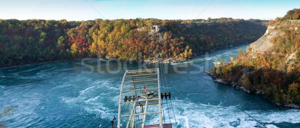 Cable car over a river, Whirlpool Aero Car, Niagara River, Niaga Stock photo © bmonteny