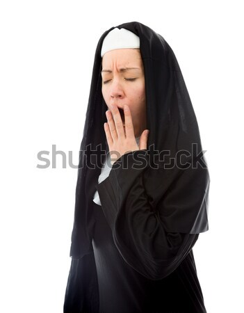 Young nun looking shocked Stock photo © bmonteny
