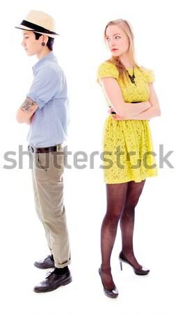 лесбиянок пару Постоянный назад портрет подчеркнуть Сток-фото © bmonteny