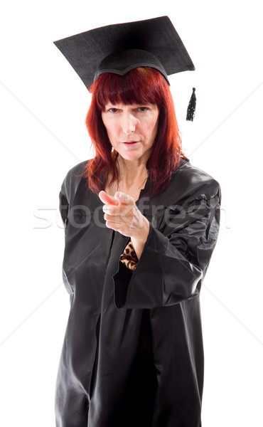 Stock photo: Mature student pointing
