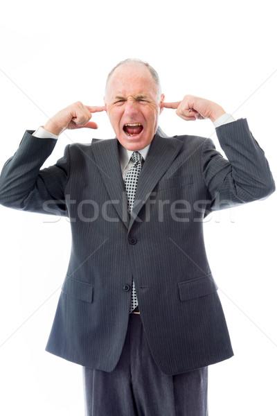 бизнесмен кричали разочарование связи энергии гнева Сток-фото © bmonteny