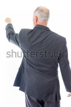 Rear view of a senior man blaming somebody Stock photo © bmonteny