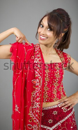 Young Indian woman looking excited Stock photo © bmonteny