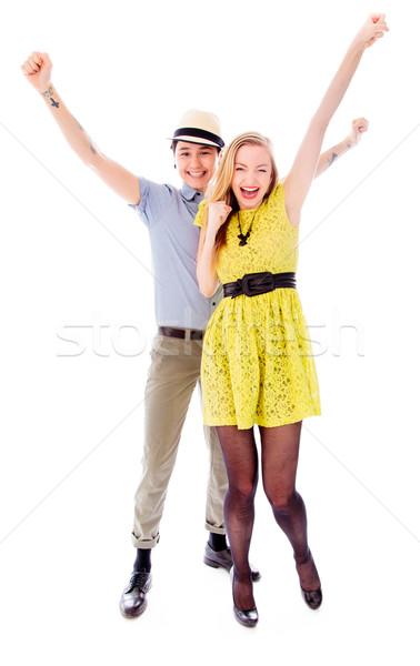 лесбиянок пару успех платье улыбаясь Сток-фото © bmonteny