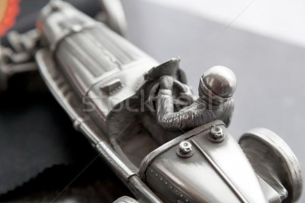 Racing speelgoed auto bestuurder metaal rijden Stockfoto © bmonteny