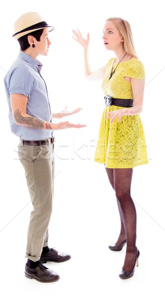 Lesbische paar vechten ander stress woede Stockfoto © bmonteny