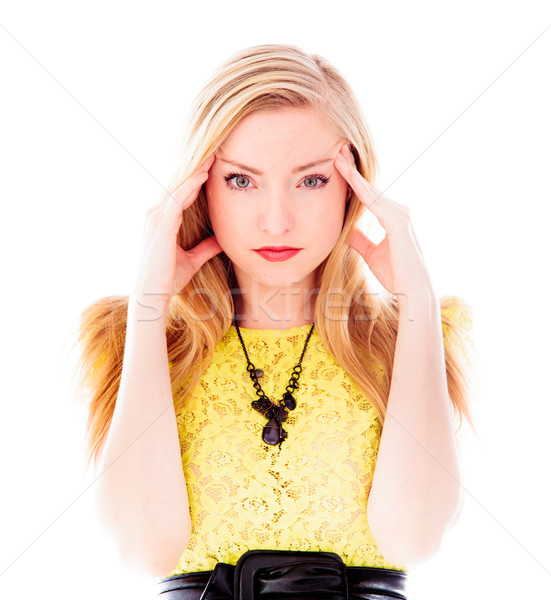 Young woman suffering from headache Stock photo © bmonteny