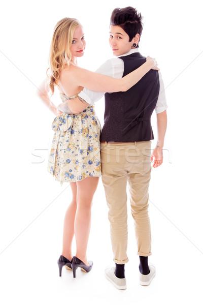 вид сзади лесбиянок пару портрет обуви Постоянный Сток-фото © bmonteny