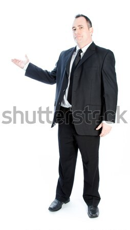 Kaukasisch zakenman 40 jaar oude geïsoleerd witte Stockfoto © bmonteny
