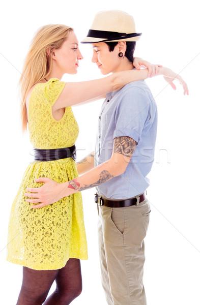 лесбиянок пару платье Постоянный доверия Сток-фото © bmonteny