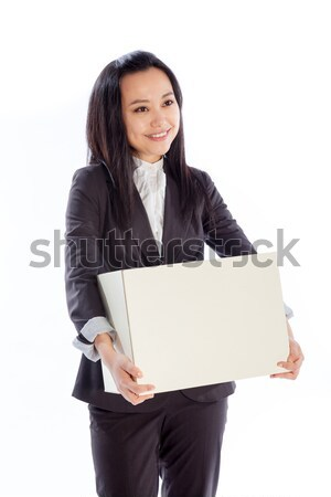 Séduisant asian fille 30s isolé blanche Photo stock © bmonteny
