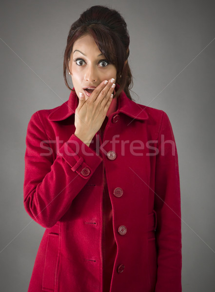 Indian young woman with shocked expression isolated on white background Stock photo © bmonteny