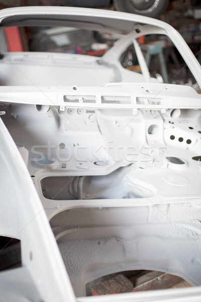 Car frame in a garage Stock photo © bmonteny