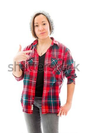 Mulher jovem em pé caucasiano mulher Foto stock © bmonteny