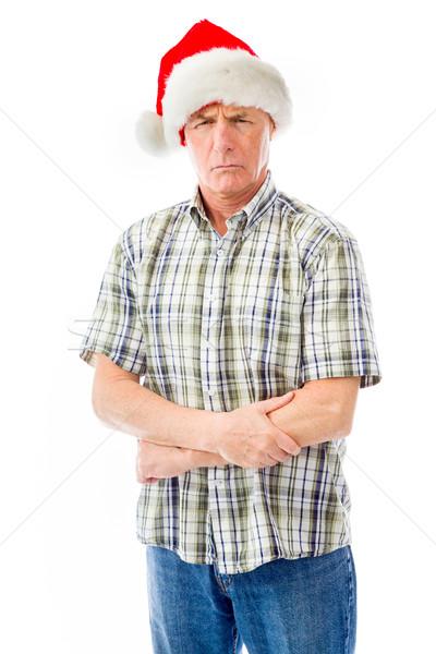 Senior homem seis olhando Foto stock © bmonteny