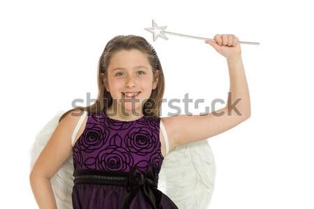Mulher jovem indicação câmera tanto mãos comunicação Foto stock © bmonteny