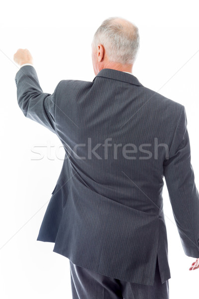 Rear view of a businessman blaming somebody Stock photo © bmonteny