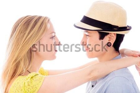 Leszbikus pár szeretet portré románc barátság Stock fotó © bmonteny