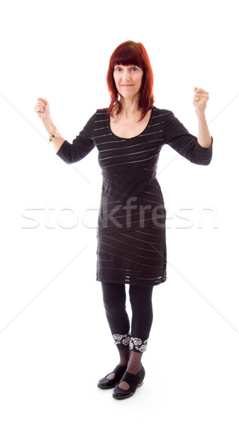 Mature woman excited Stock photo © bmonteny