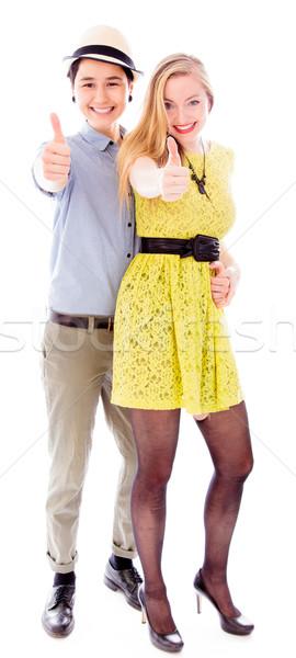 лесбиянок пару знак связи Сток-фото © bmonteny