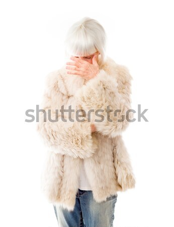 Senior woman looking frustrated Stock photo © bmonteny