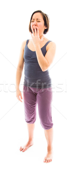 Young woman yawning Stock photo © bmonteny