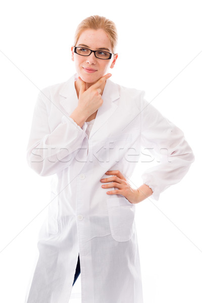 Female scientist standing with her hand on hip Stock photo © bmonteny