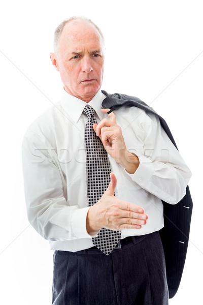 üzletember felajánlás kéz kézfogás kommunikáció siker Stock fotó © bmonteny