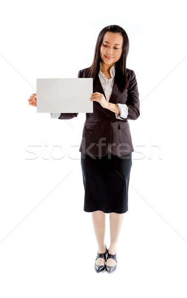 Stockfoto: Aantrekkelijk · asian · meisje · 30s · geïsoleerd · witte