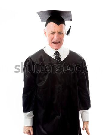肖像 シニア 男性 大学院 笑みを浮かべて 教育 ストックフォト © bmonteny