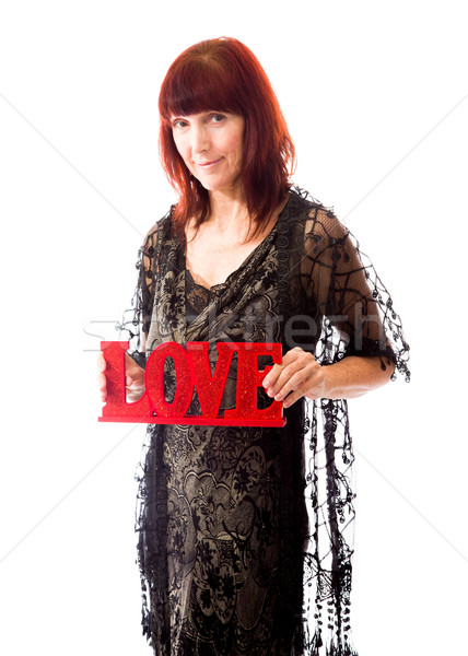 Romantikus emberek szeretet lövés stúdió izolált Stock fotó © bmonteny