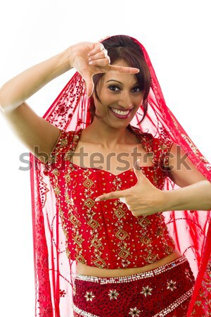 Stock photo: Young Indian woman shouting in frustration