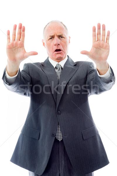 ビジネスマン マネージャ 怒り 立って ストックフォト © bmonteny