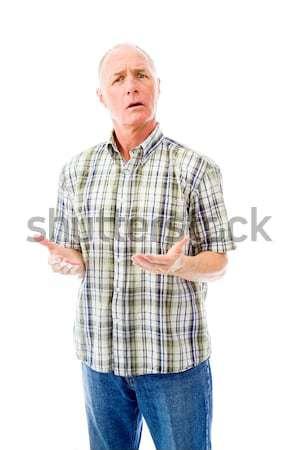 Senior man naar bezorgd stress permanente Stockfoto © bmonteny