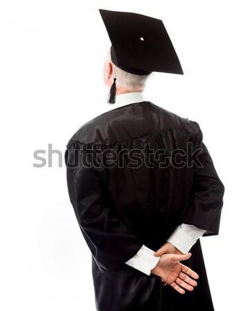 背面図 シニア 男性 大学院 立って 腕 ストックフォト © bmonteny