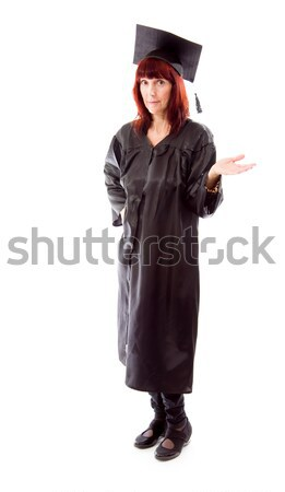 Mature student standing with her arm outstretched Stock photo © bmonteny