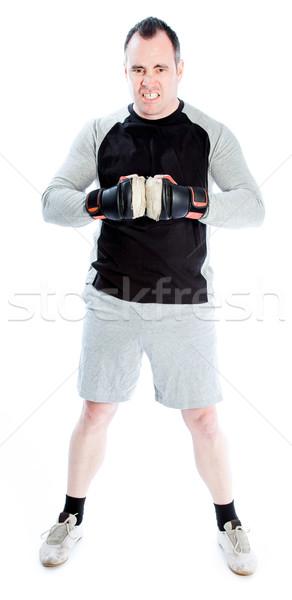 caucasian boxer 40 years old Stock photo © bmonteny