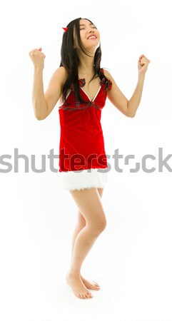 Szexi ázsiai mikulás elveszett vonzó lány Stock fotó © bmonteny