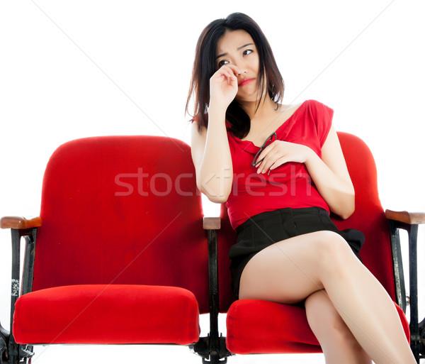 Aantrekkelijk asian meisje 20s theater Stockfoto © bmonteny